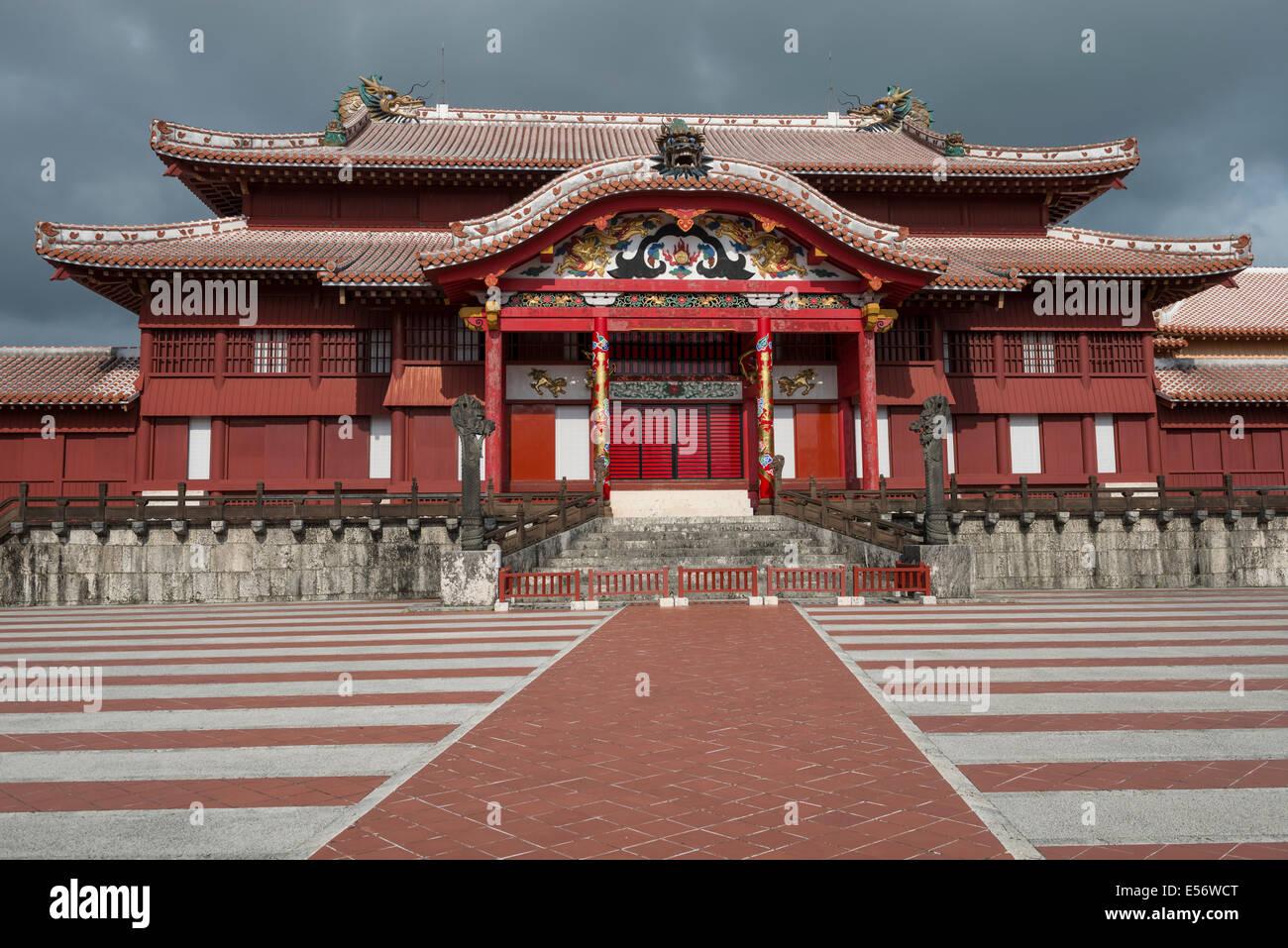 Shuri Castle near Naha, Okinawa, Japan - Stock Image