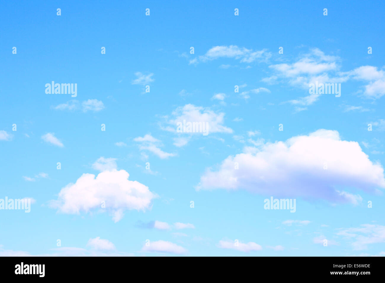 Light blue sky and clouds, may be used as background - Stock Image