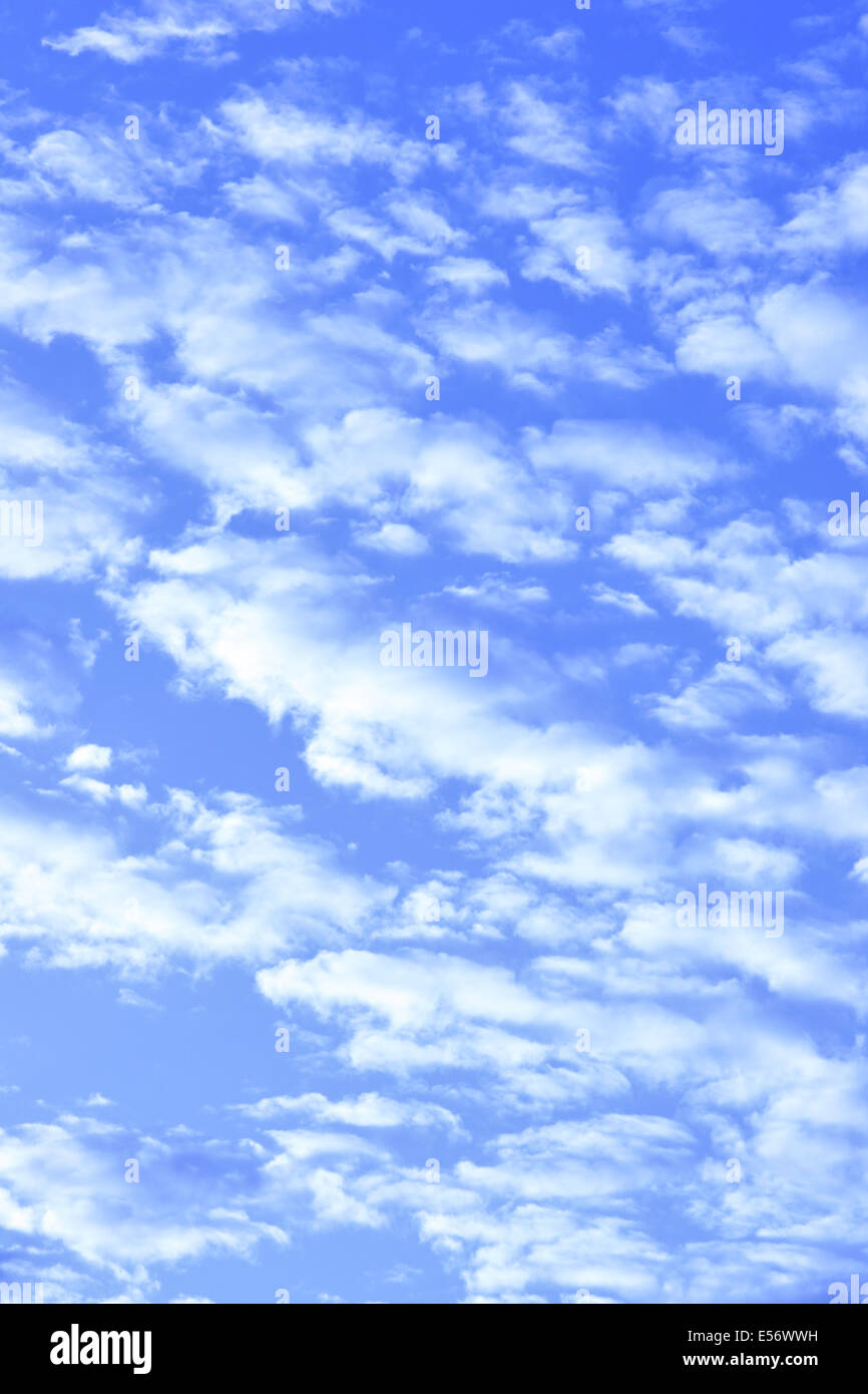 Blue sky and clouds, may be used as background - Stock Image