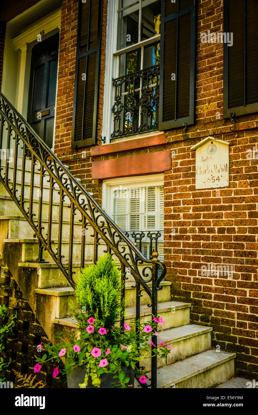 Restored, refined residential architecture and gardens delight Stock ...