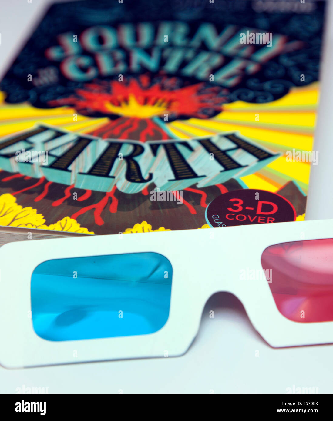 Book with 3D cover design and glasses, London - Stock Image