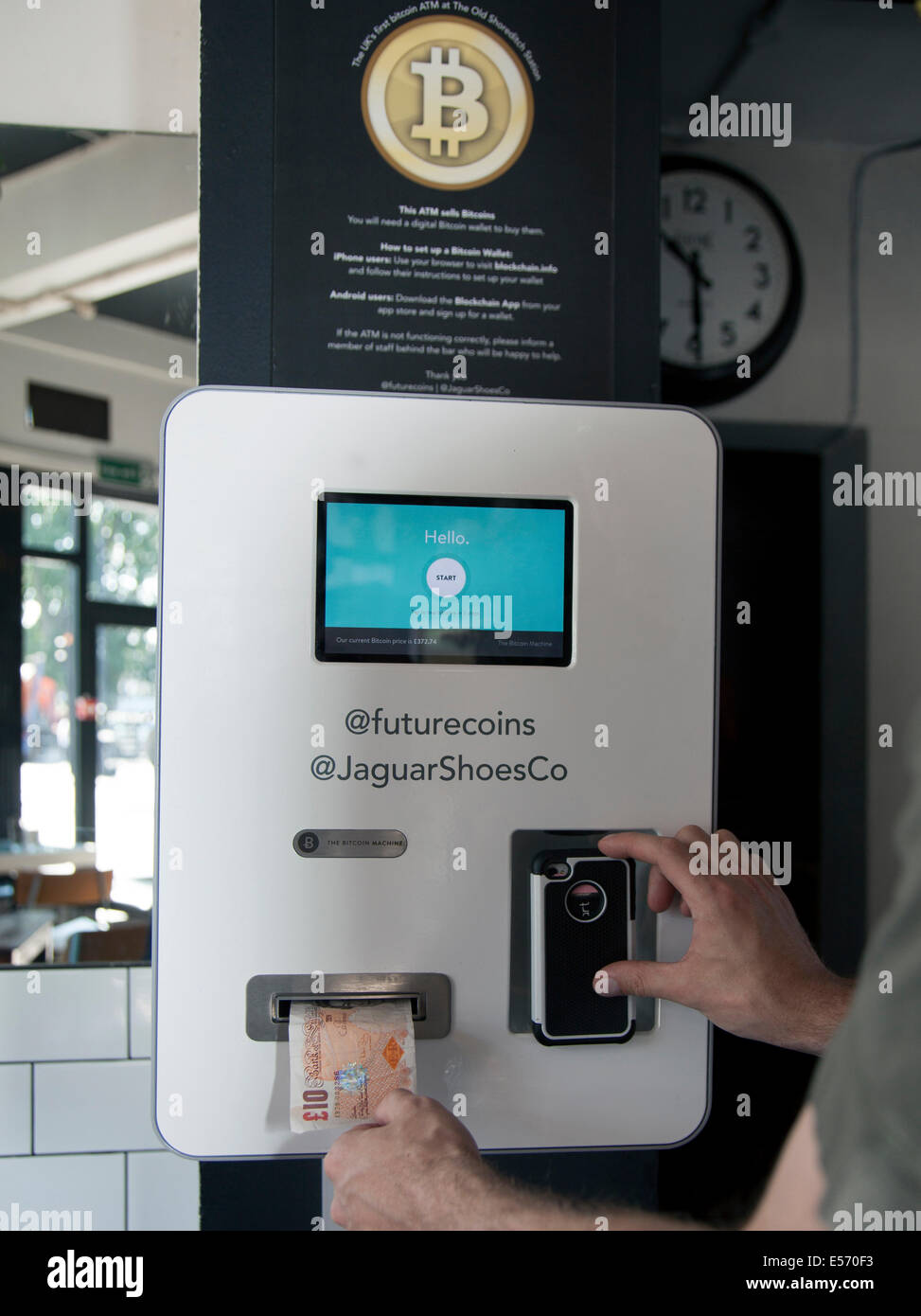 Uks First Bitcoin Atm In Old S Ditch Station Cafe Bar London