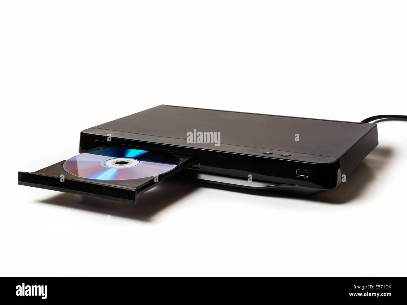 DVD player on white background - Stock Image