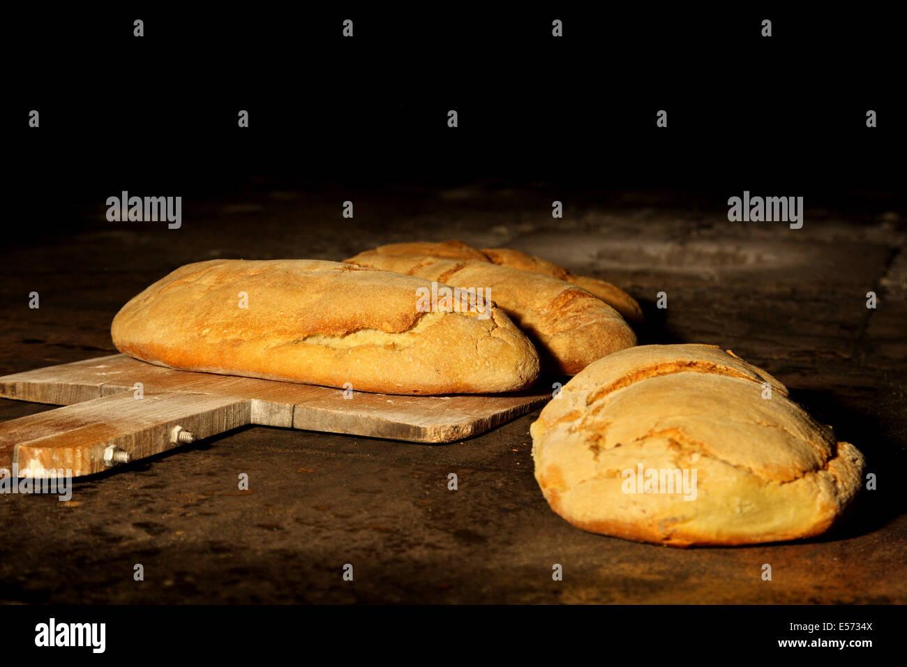"""The """"famous"""" bread of Tracheia village, Argolis (""""Argolida""""), Peloponnese, Greece. Stock Photo"""