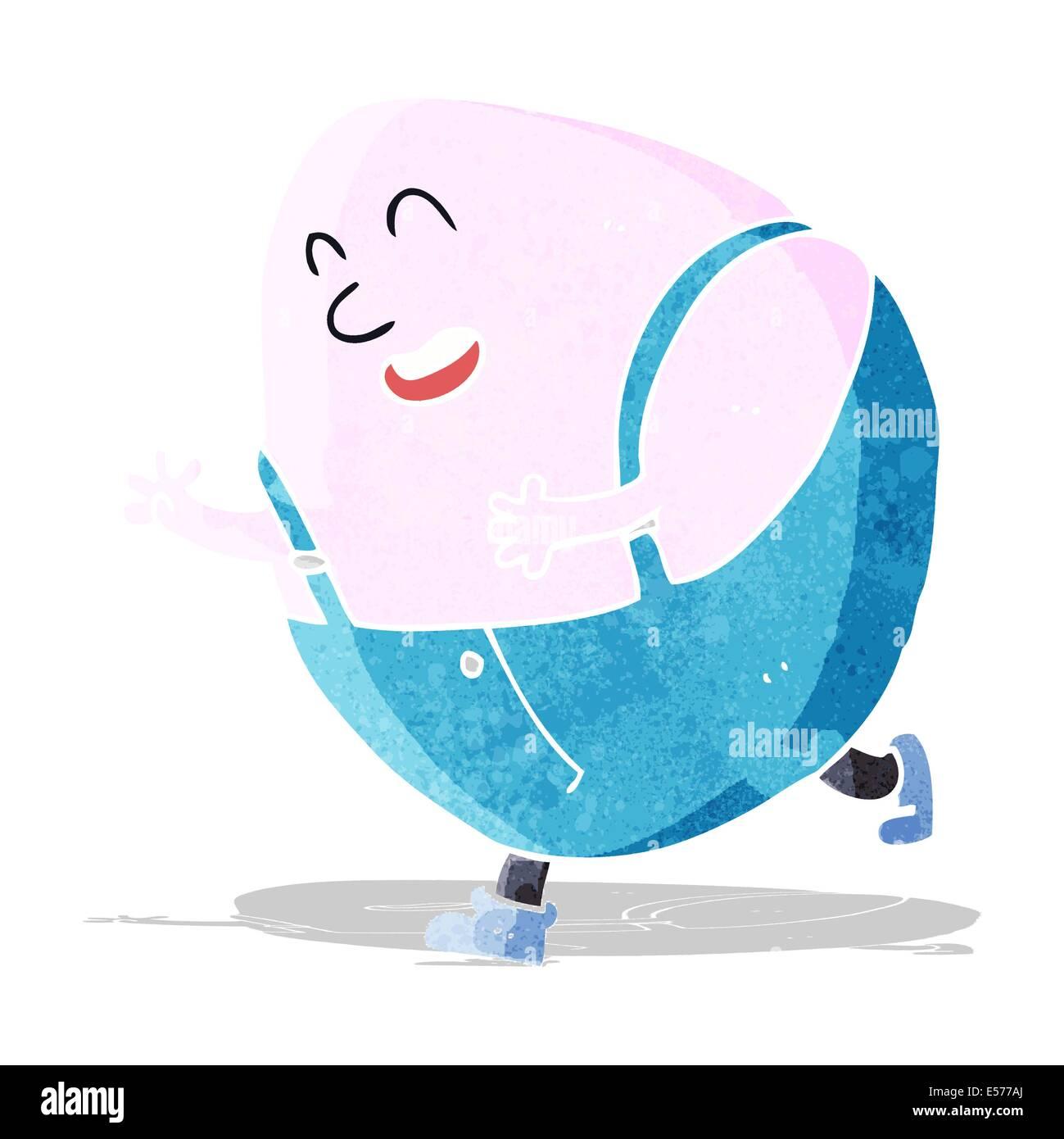 cartoon humpty dumpty egg character Stock Vector