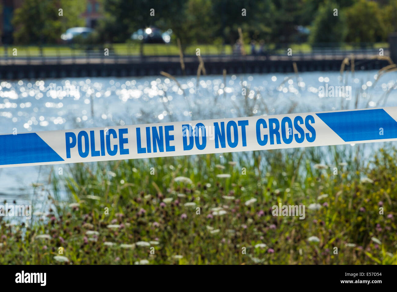 Stockton on Tees, England, UK. 22nd July, 2014. Police search continues for missing swimmer, named as 19-year-old - Stock Image