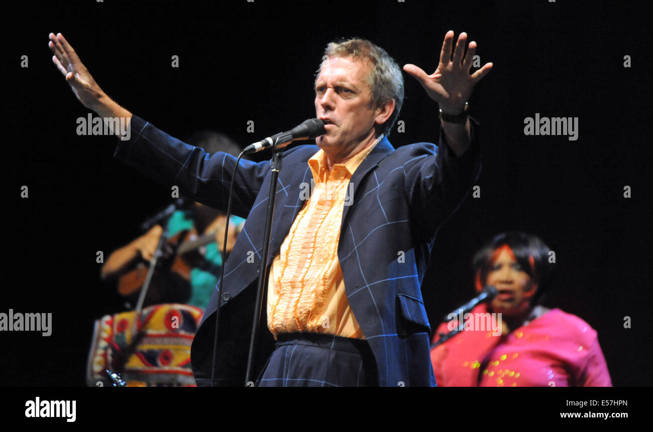 Brno, Czech Republic. 22nd July, 2014. British actor and singer known for his role in Dr. House series Hugh Laurie - Stock Image
