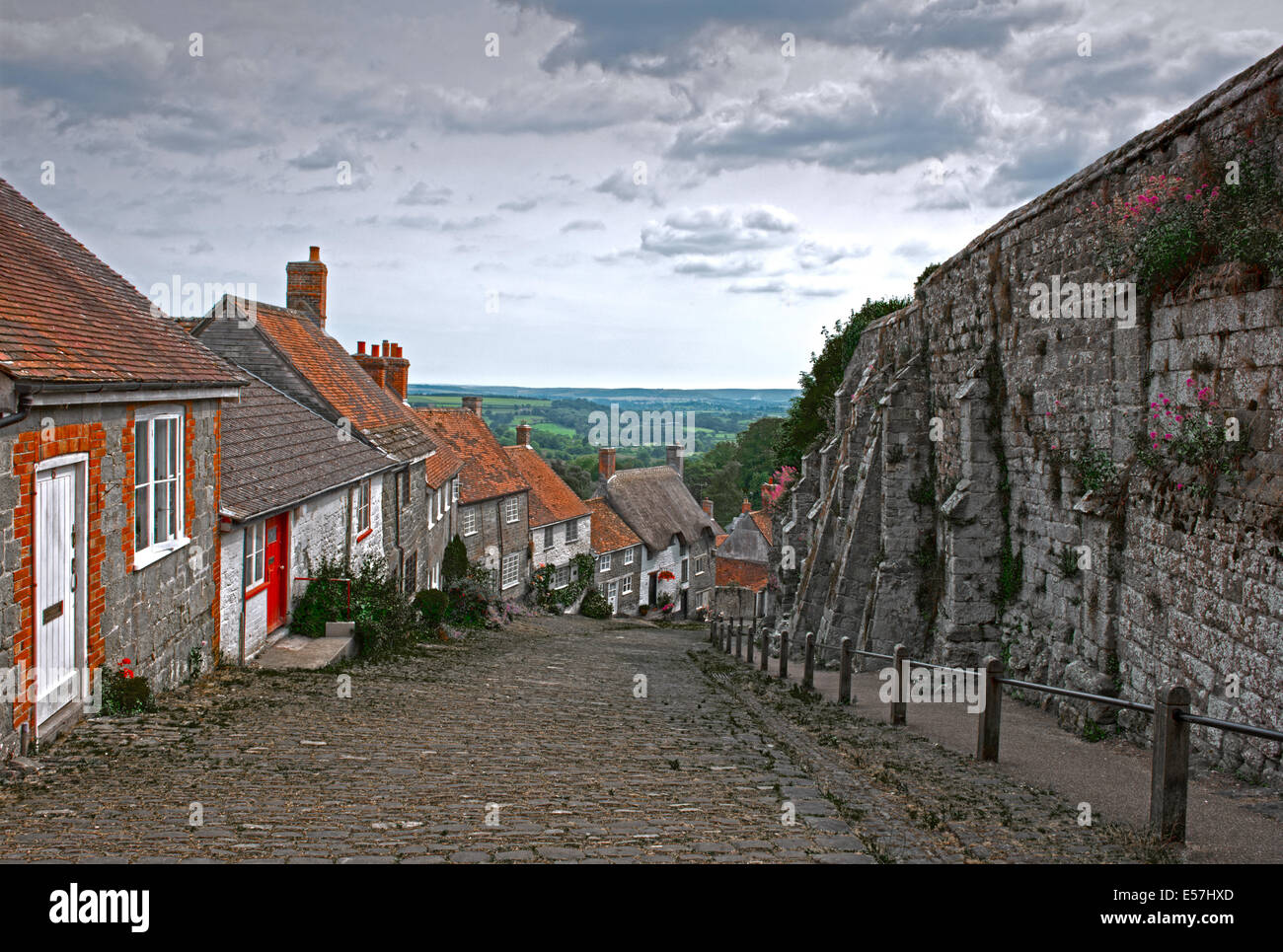 Gold Hill, Shaftesbury, (Hovis T.v  Advert)  Dorset, England, Uk. - Stock Image
