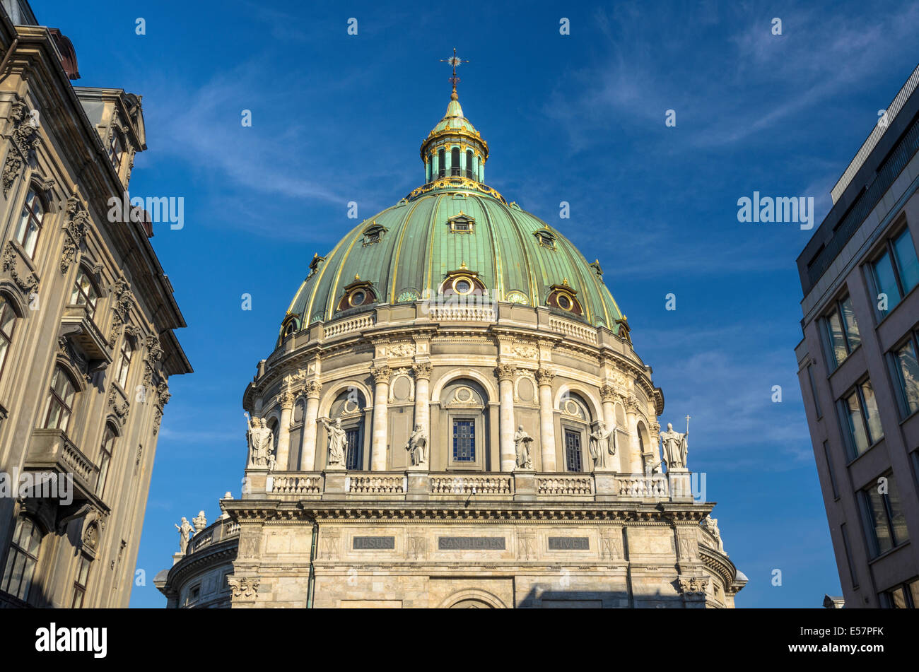 Marble Church, Copenhagen, Denmark - Stock Image