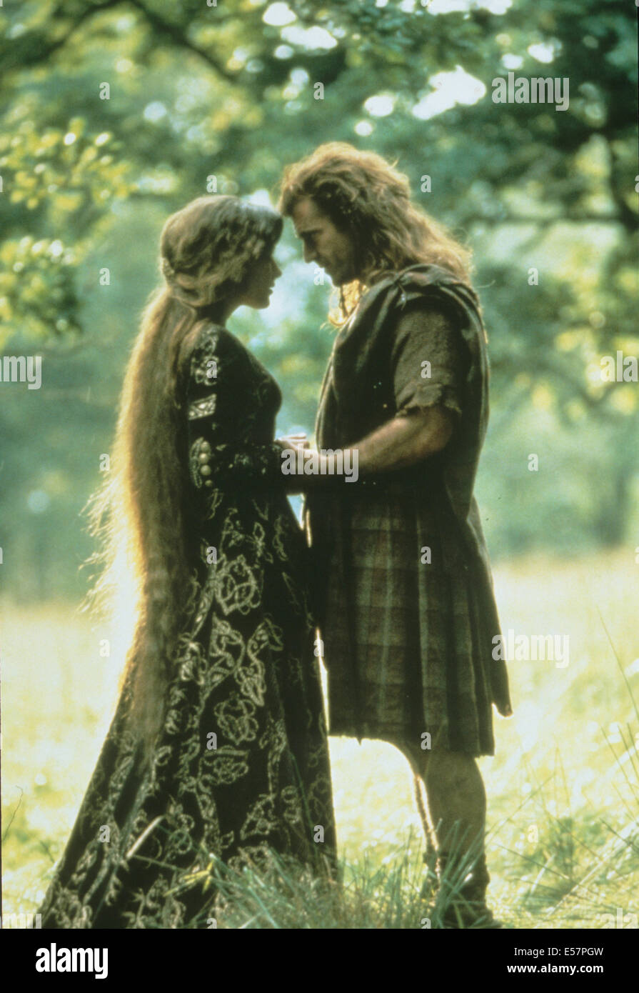 BRAVEHEART 1995 Icon Entertainment fllm with Mel Gibson and Sophie Marceau - Stock Image