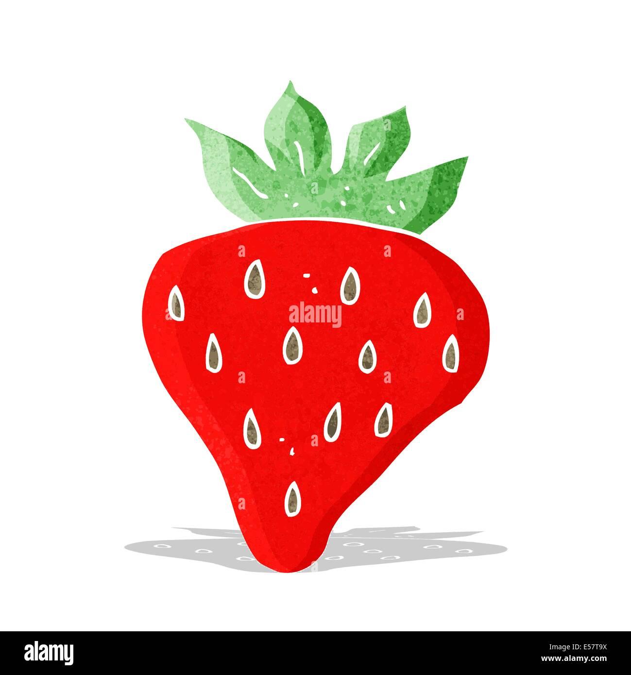 cartoon strawberry - Stock Image