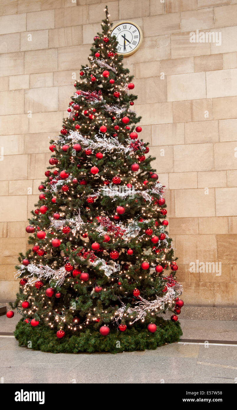 Big Red Christmas Tree Ornament Stock Photo Alamy