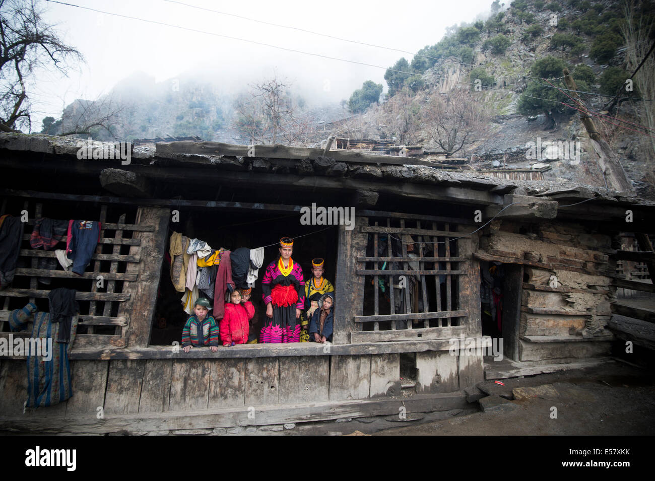 Pic Shows Kalasha  People of Pakistan  Chitral District Khyber Pakhtunkhwa province - Stock Image
