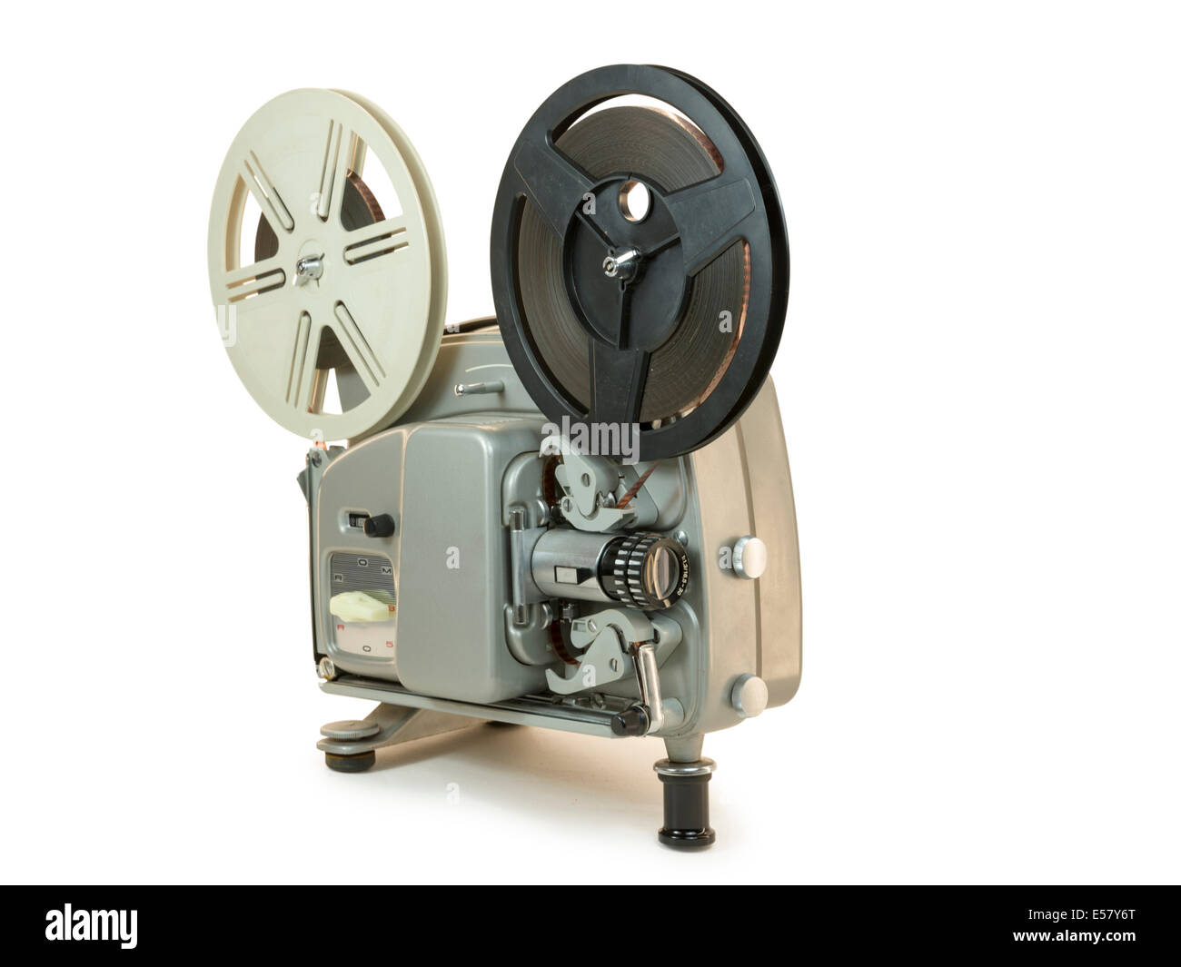 Antique Super 8mm film projector, isolated  Clipping paths