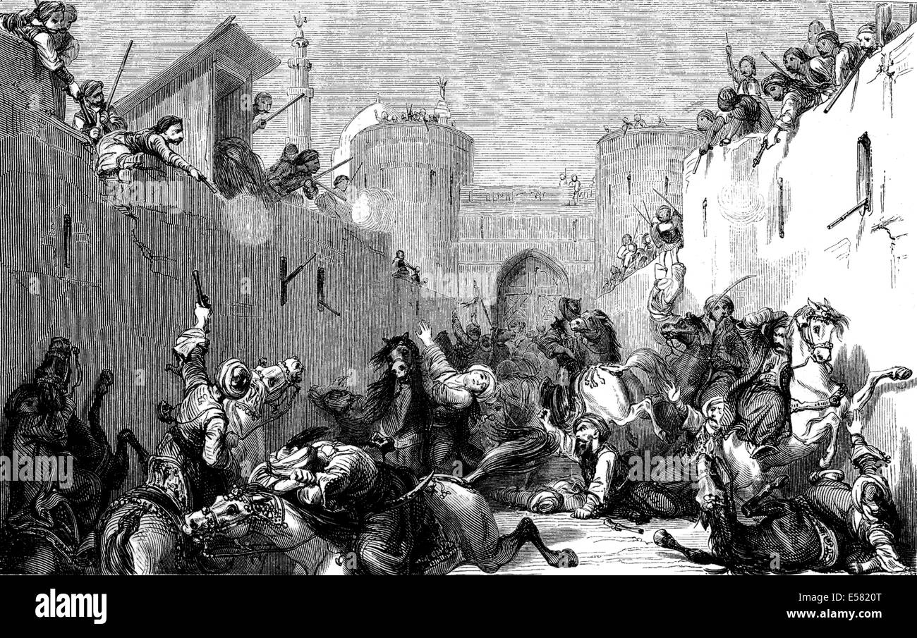 Mamluks cavalry massacre, Egypt in 1883, 1885 - Stock Image