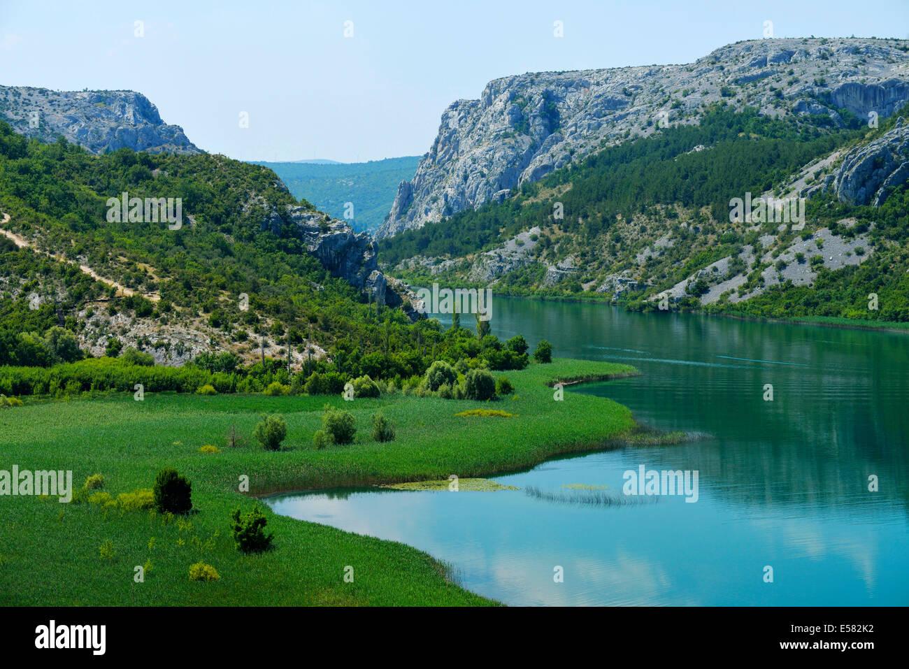 Krka river, Krka National Park, Roški Slap, Croatia Stock Photo