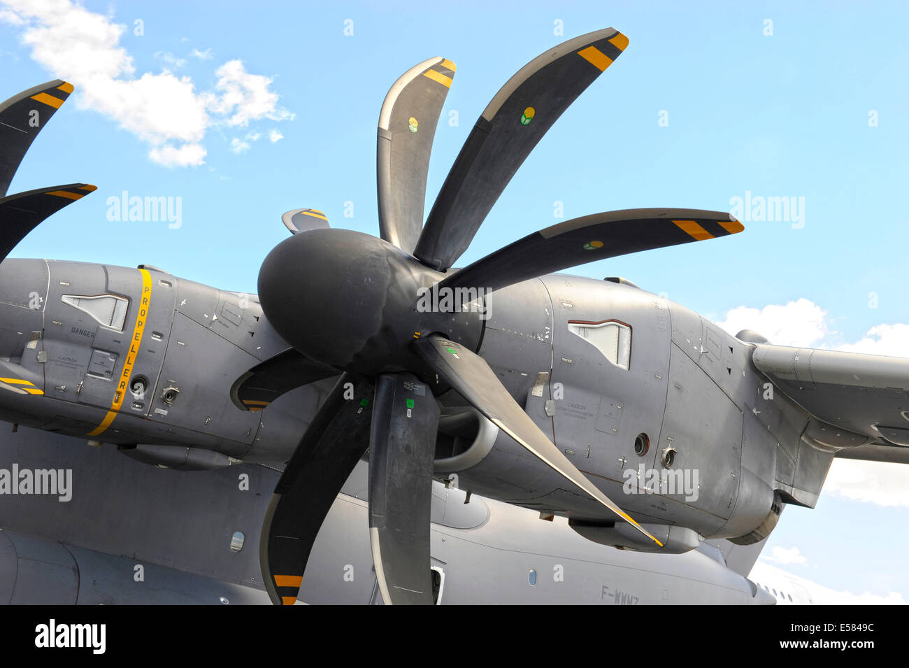 Airbus Military A400M propeller detail - Stock Image