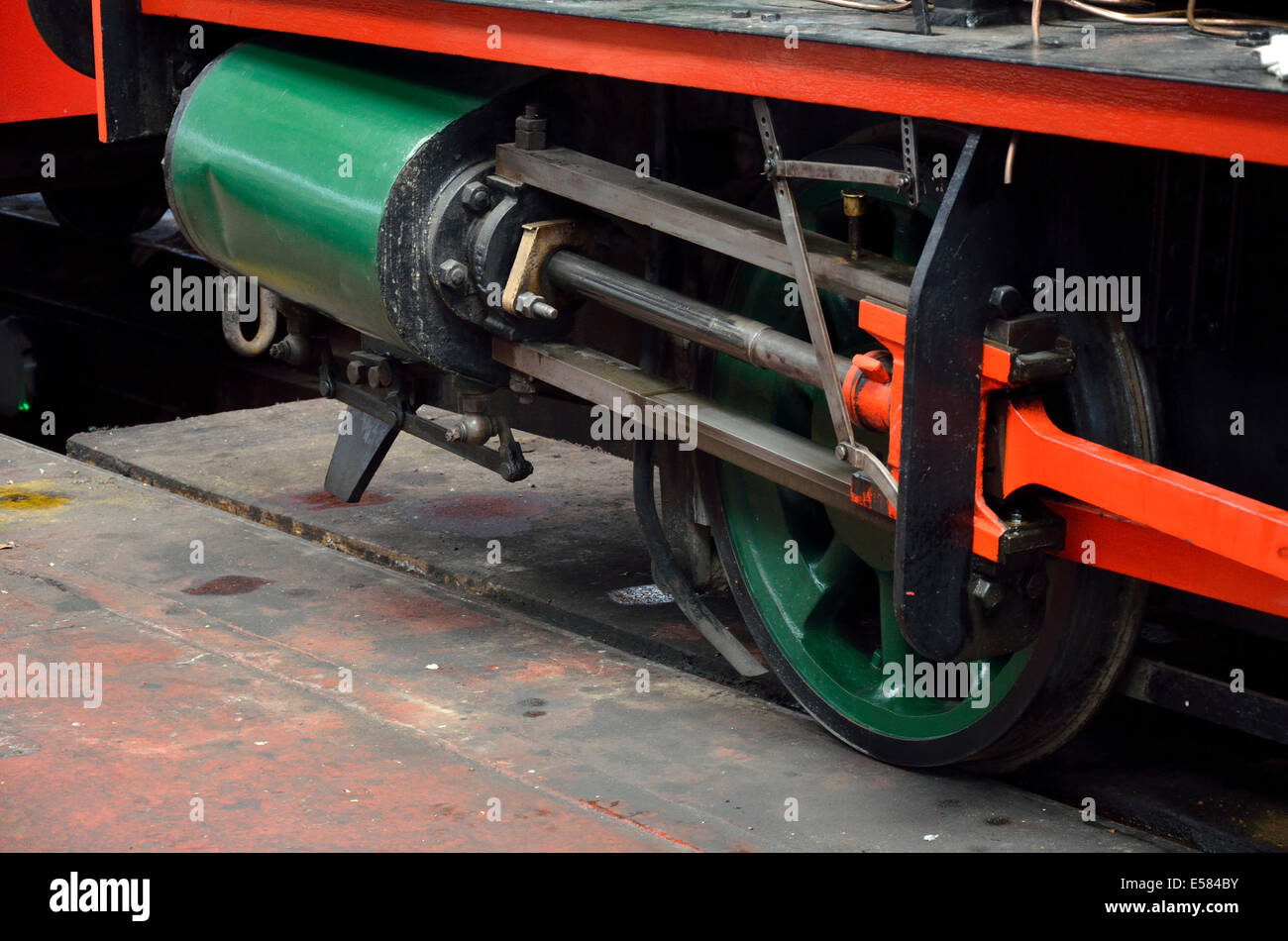 Chatham, Kent, England, UK. Chatham Historic Dockyard. Steam locomotive 'Ajax' (RSH 7042/1941, 0-4-0SH) built by Stock Photo