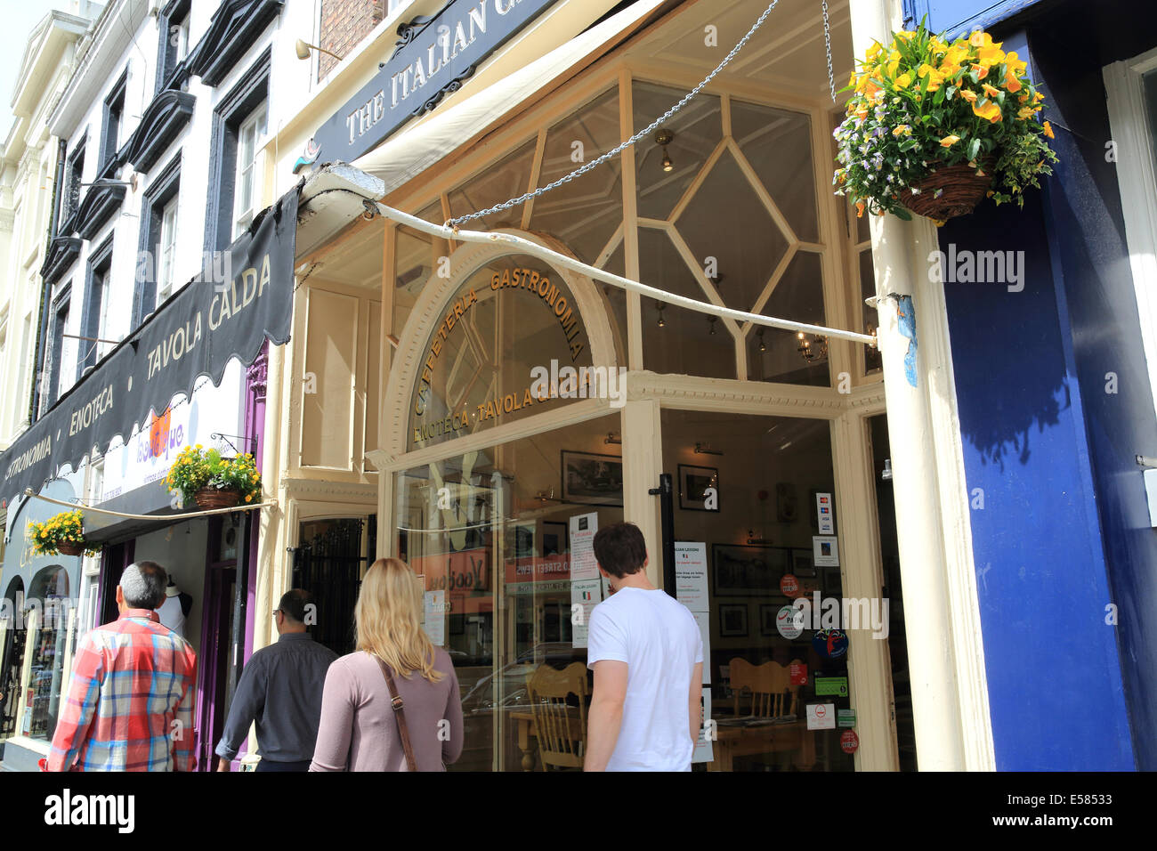 Independent shops on famous Bold Street in Liverpool in the Ropewalks area, in NW England, UK - Stock Image