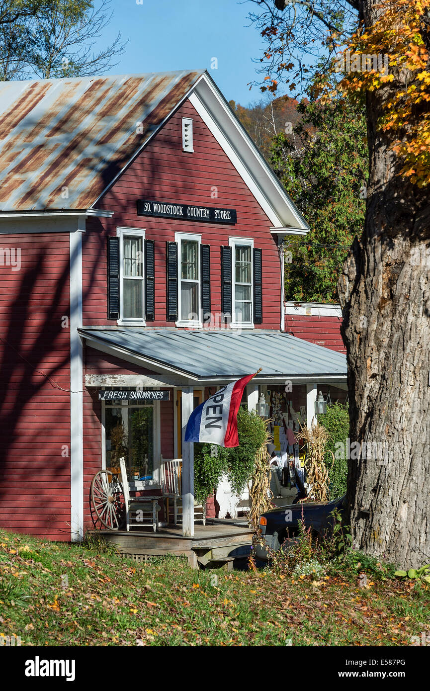 South Woodstock general store, Woodstock, Vermont, USA - Stock Image