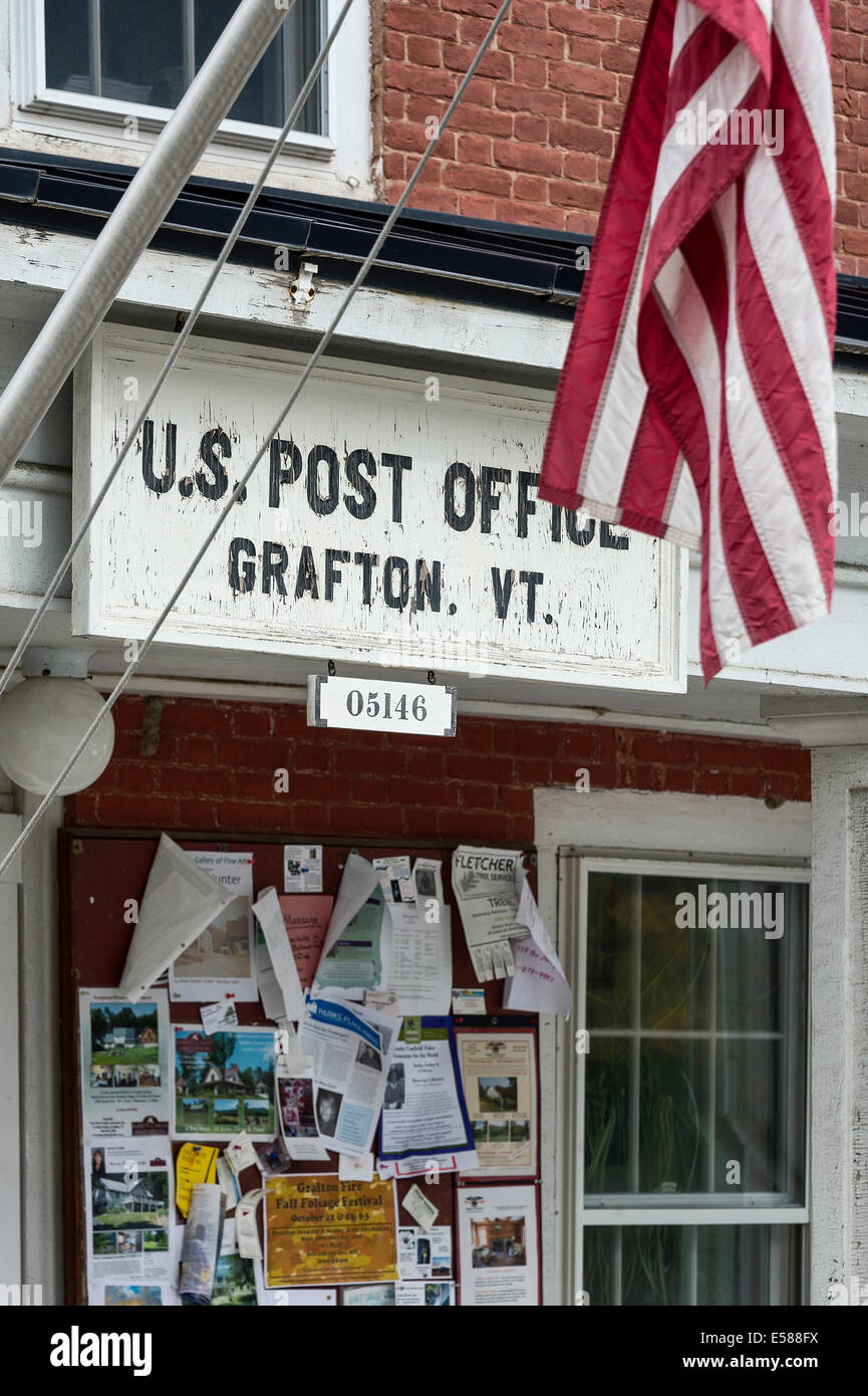 Old fashion village post office, Grafton, Vermont, USA - Stock Image