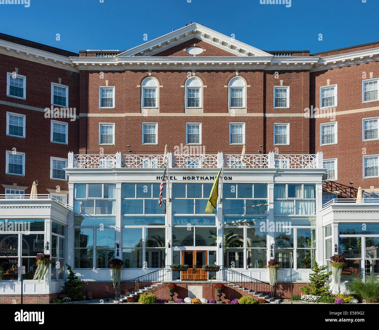 Exterior of the Northhamiton Hotel, Northampton, Massachusetts, USA - Stock Image