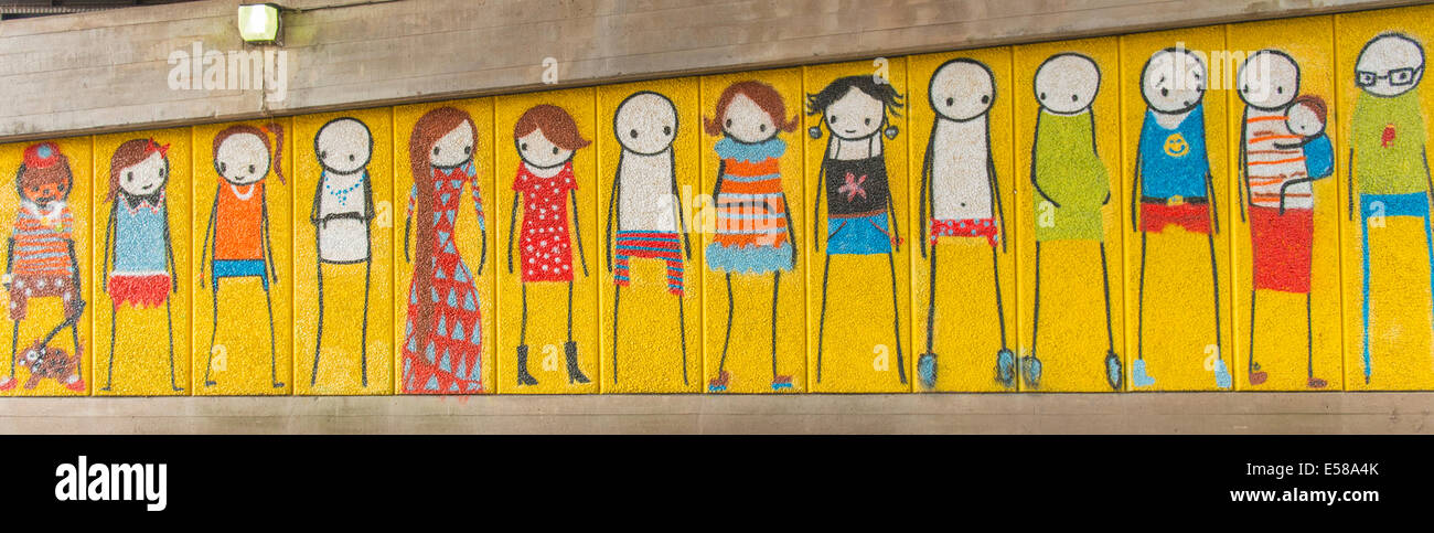 London  Southbank  graffiti street art door painting of figure by Stik front painting picture paintings pictures door painting  sc 1 st  Alamy & London  Southbank  graffiti street art door painting of figure by ...