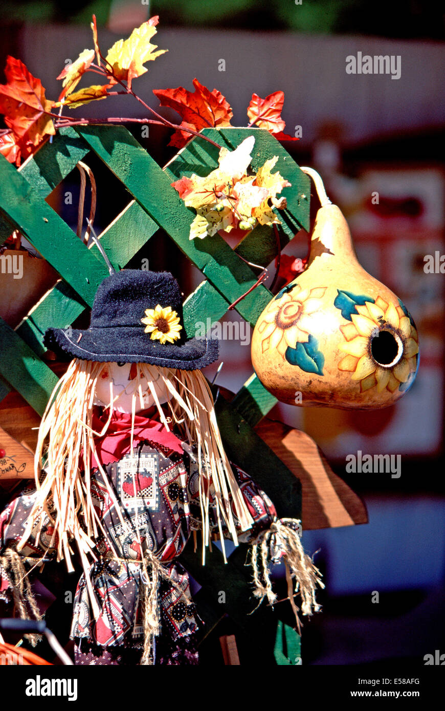 Fall crafts for sale,Museum of Appalachia,Tennessee - Stock Image