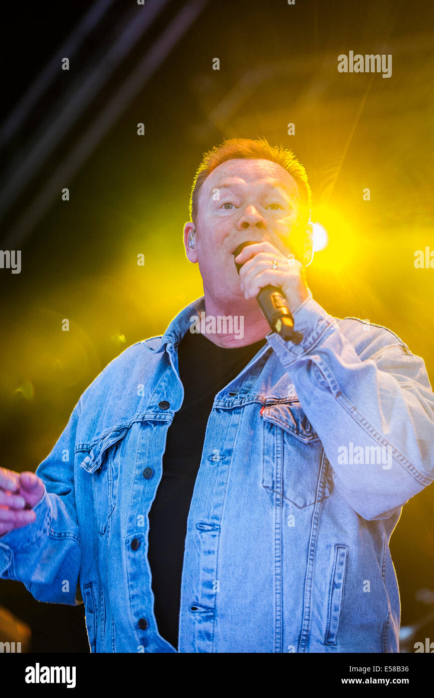 Ali Campbell, lead singer from UB40 performing at the Brentwood Festival. - Stock Image