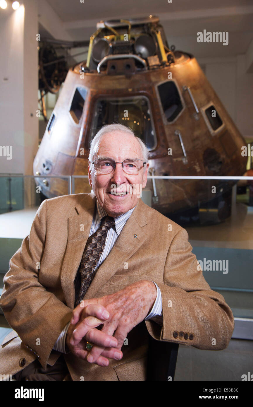 Astronaut Jim Lovell in the Science Museum - Stock Image