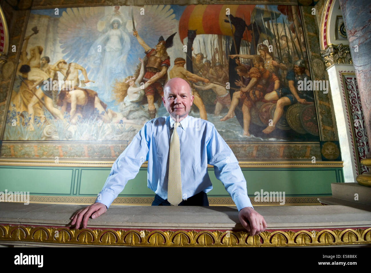 William Hague former Foreign Secretary at the Foreign Office - Stock Image