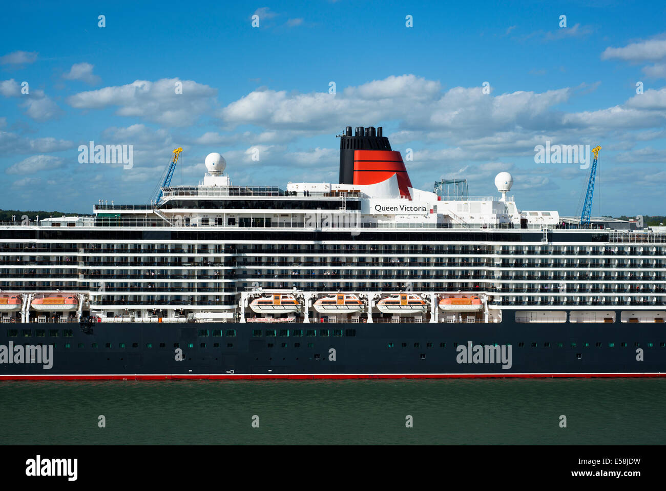 MS Queen Victoria docked at Southampton, Hampshire, England, United Kingdom - Stock Image