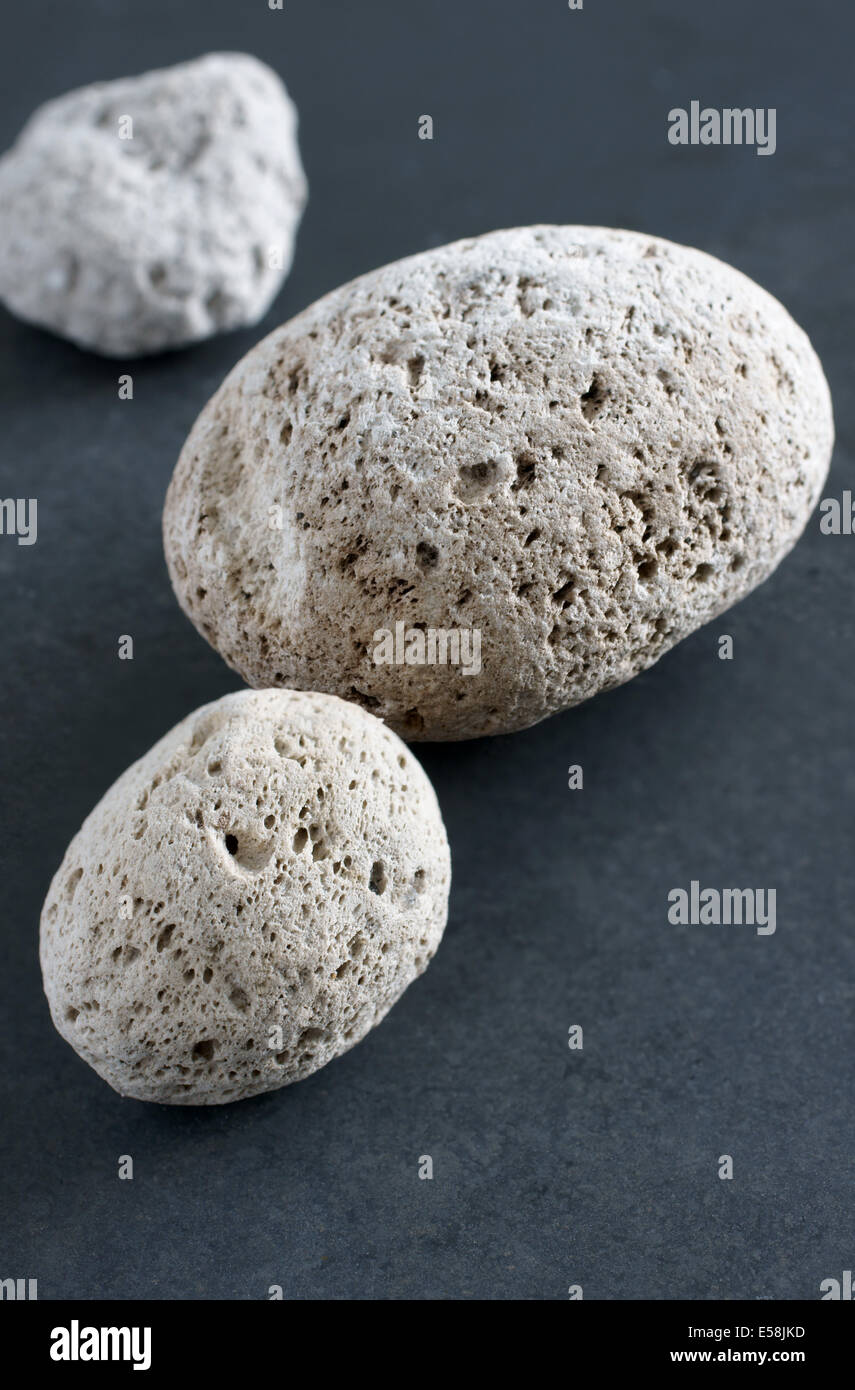 Volcanic pumice in close up.  This sample is from the Taupo area of New Zealand's North Island - Stock Image