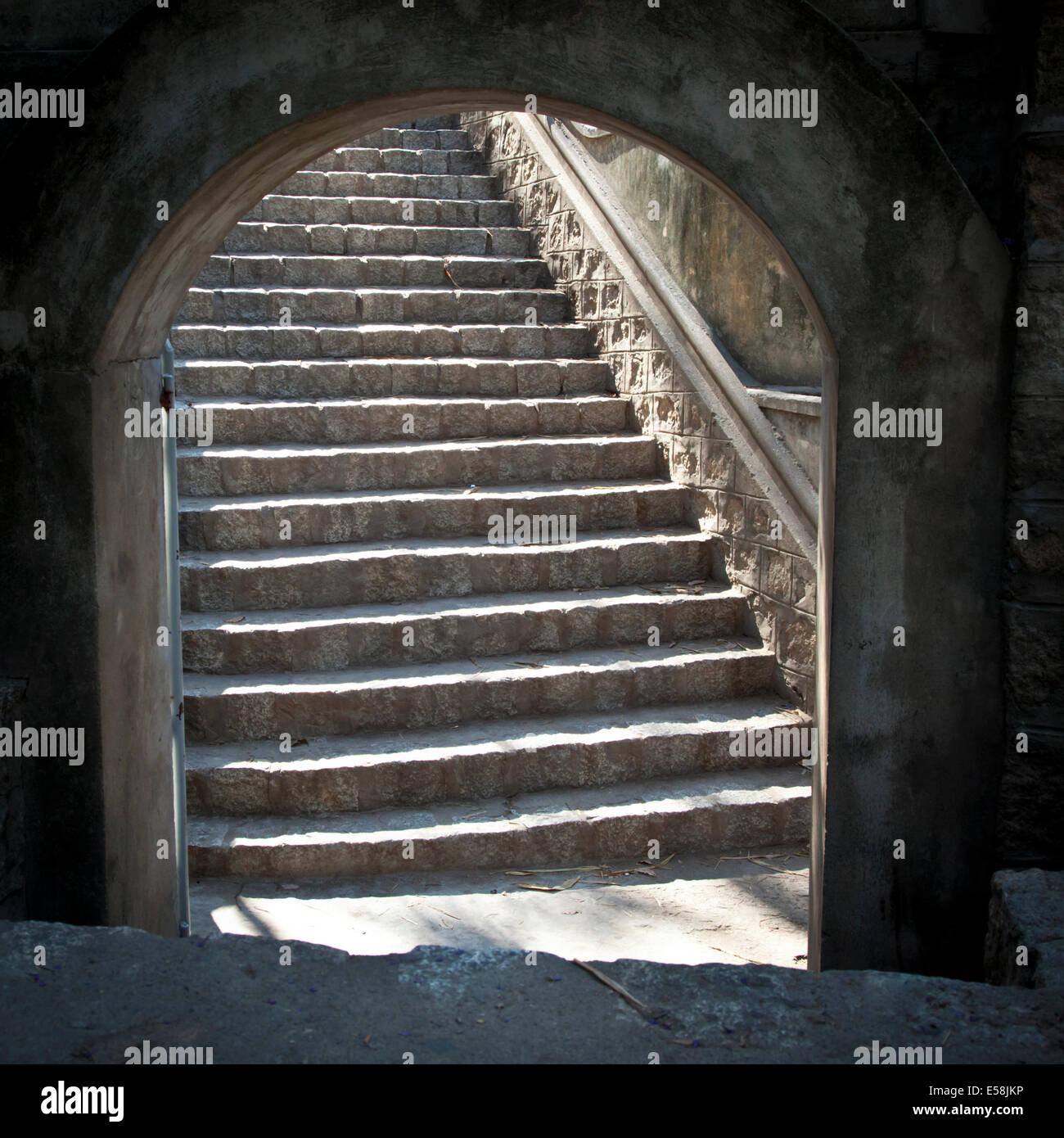 Stairs at Long Son Pagoda, Nha Trang Stock Photo