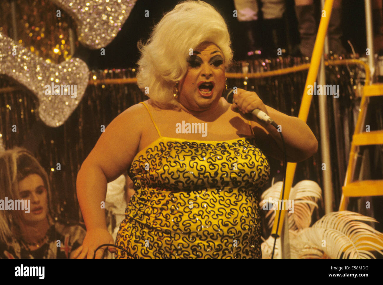 DIVINE (Harris Milstead) 1945-1988 US entertainer about 1984 - Stock Image