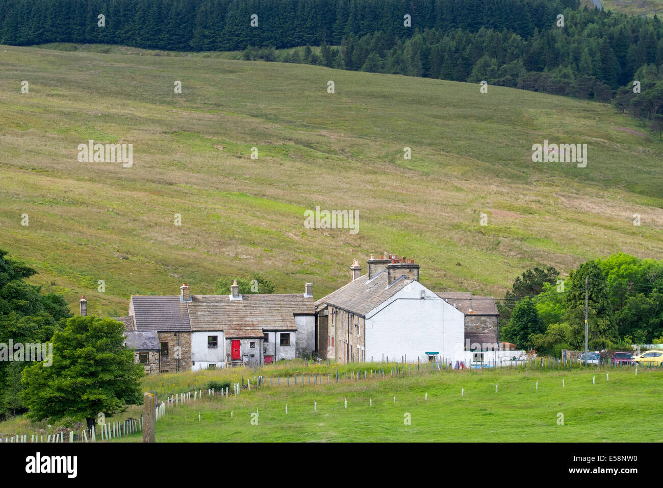 The old mining village on Nenthead near Alston in the North Pennines, Cumbria, UK. - Stock Image