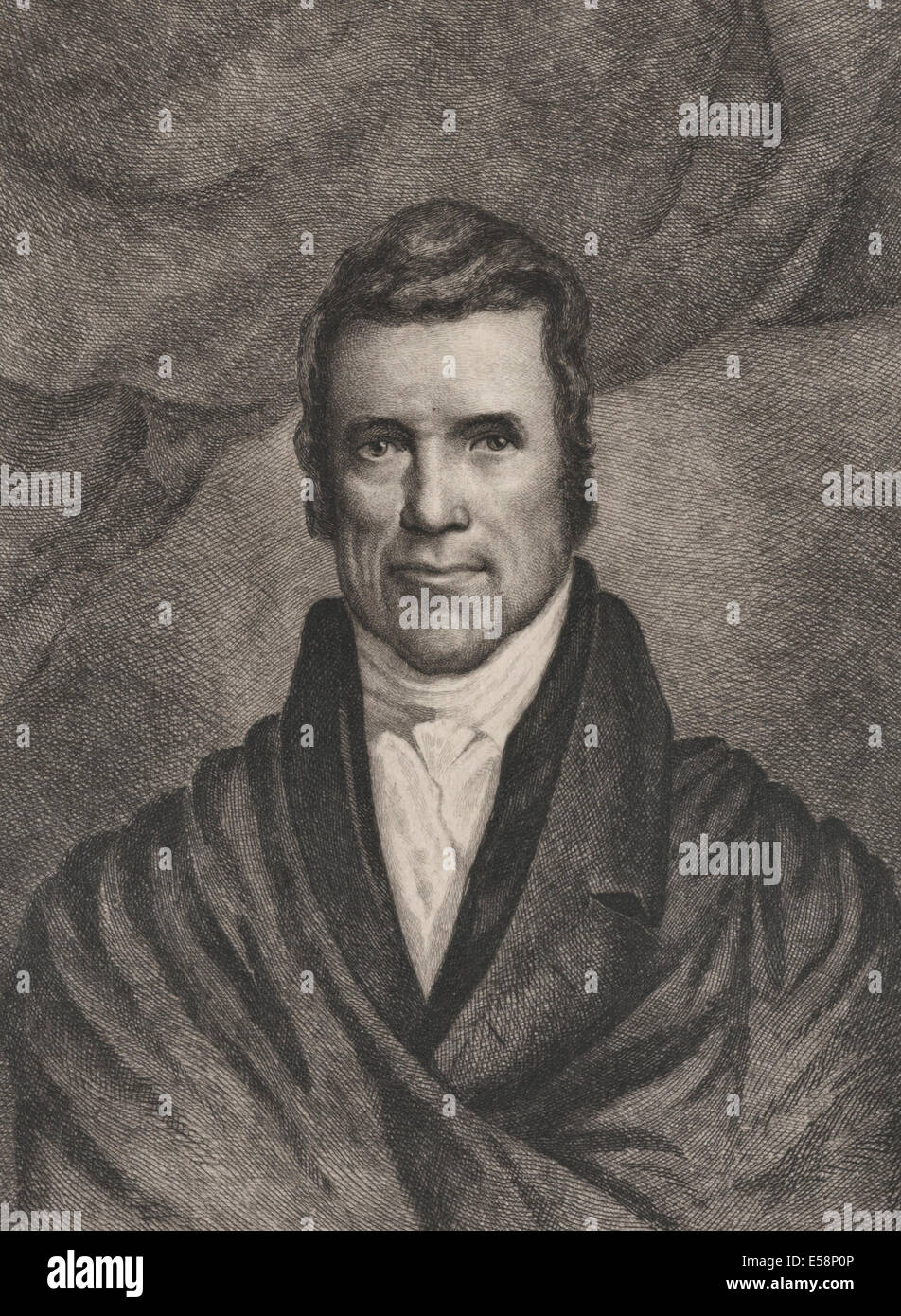 Chief Justice John Marshall, Chief Justice of the USA Supreme Court 1801-1835 - Stock Image