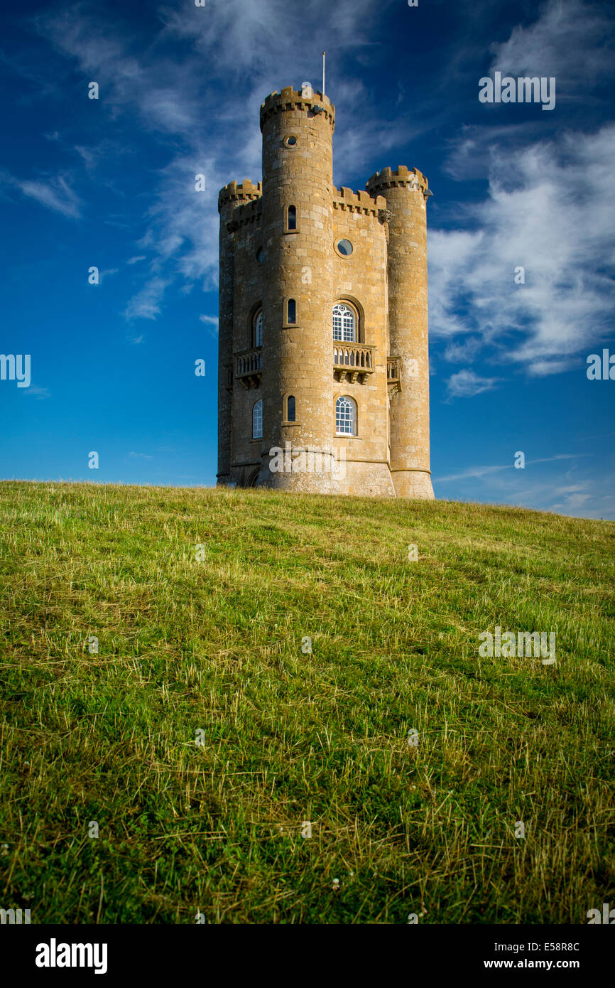 Early morning at Broadway Tower, the Cotswolds, Worcestershire, England - Stock Image