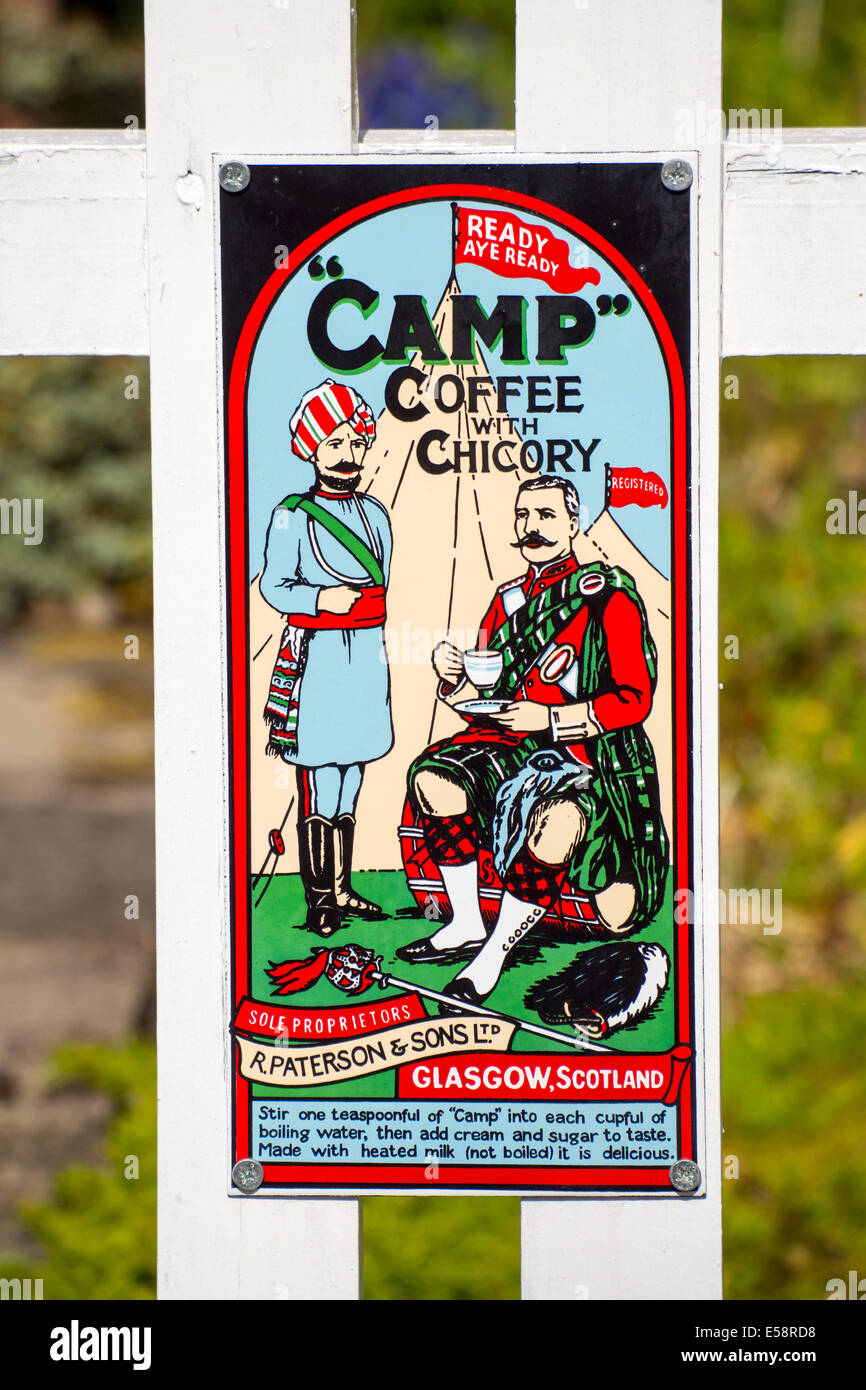 0cb3cb1241c An old advert for Camp Coffee Stock Photo: 72108772 - Alamy