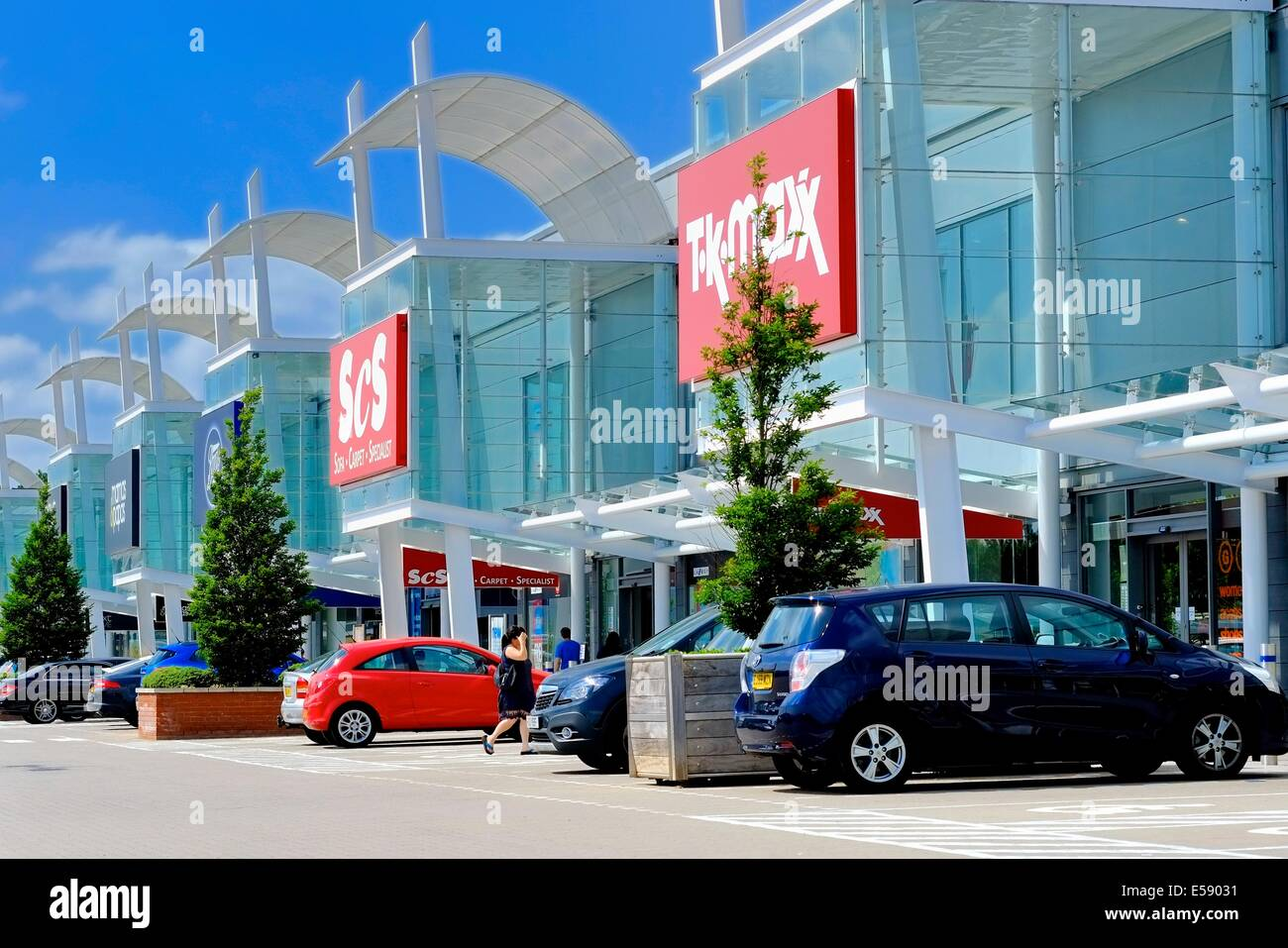 The Giltbrook retail park Nottingham england uk - Stock Image