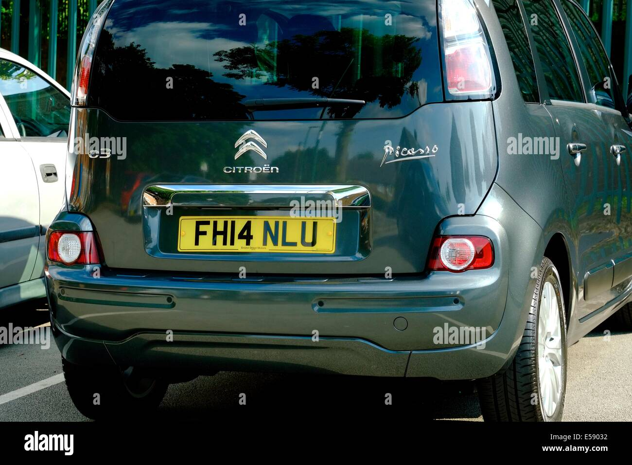 A brand new citroen c3 picasso England uk - Stock Image