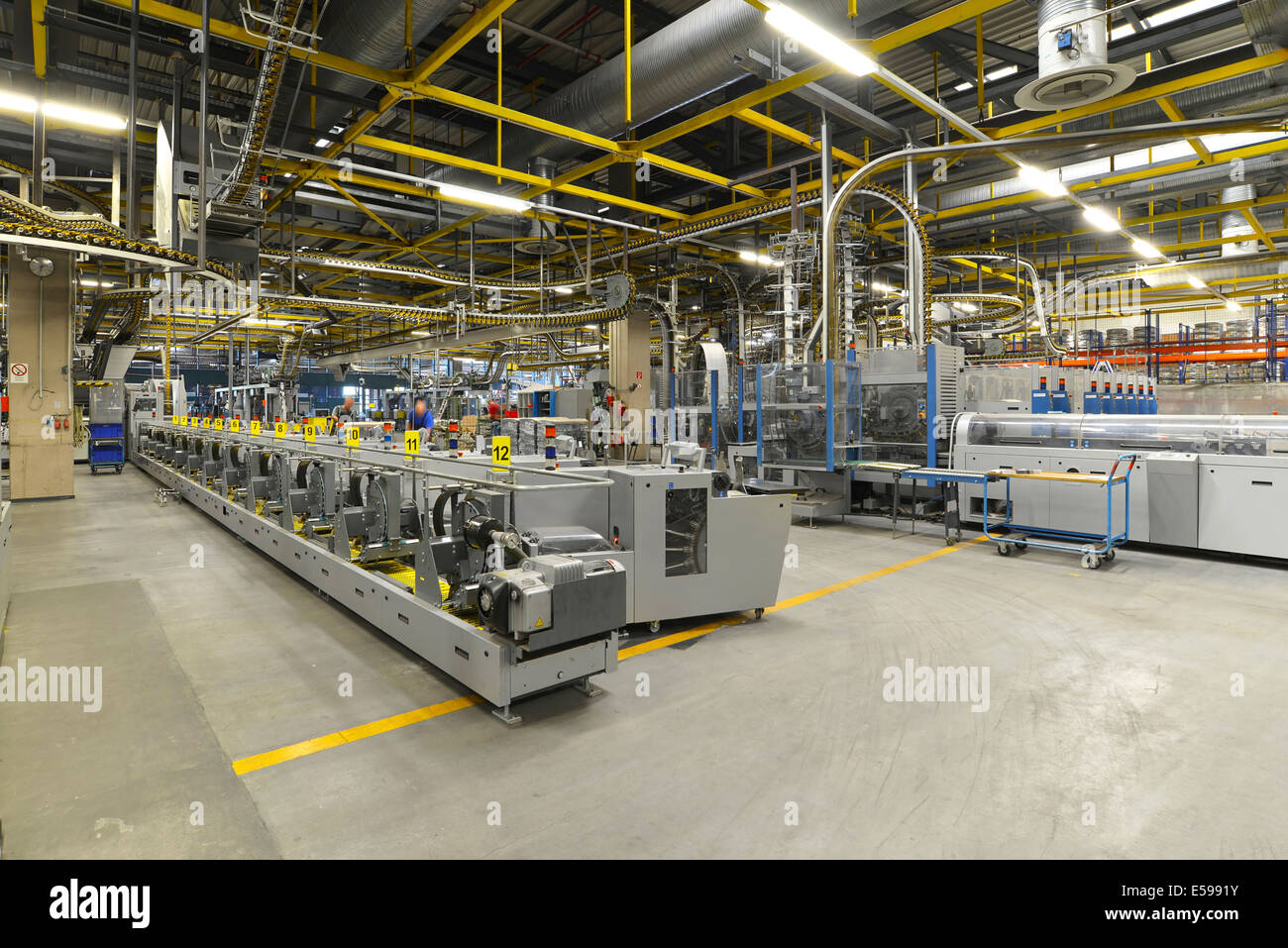 Modern Industrial Machines In A Printing Shop