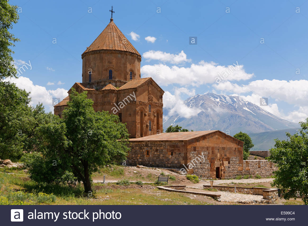 Turkey, Akdamar Island, Armenian Church of the Holy Cross Stock Photo
