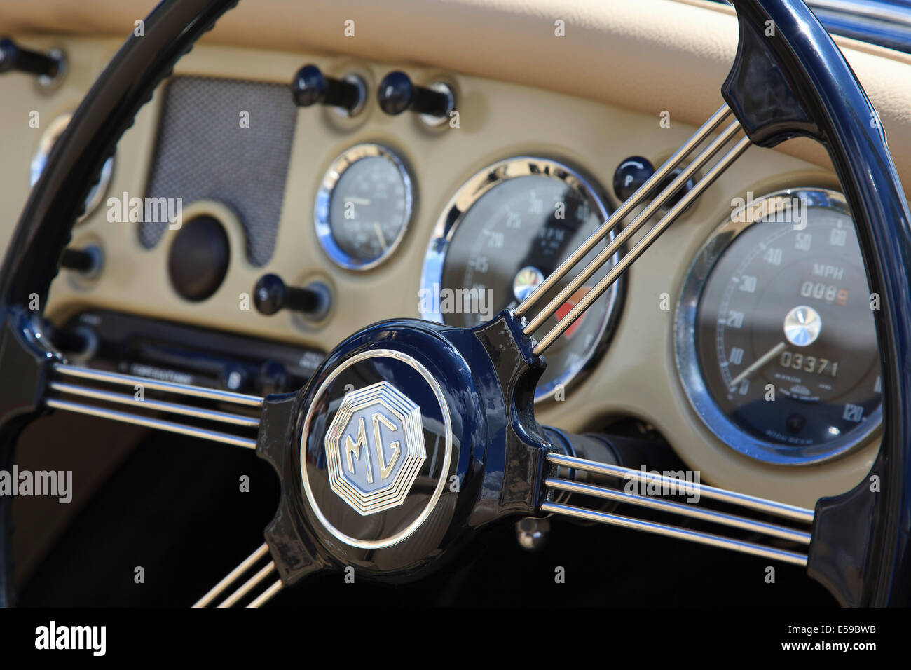 Transport, Cars, Old, Classic car show, detail of classic MG