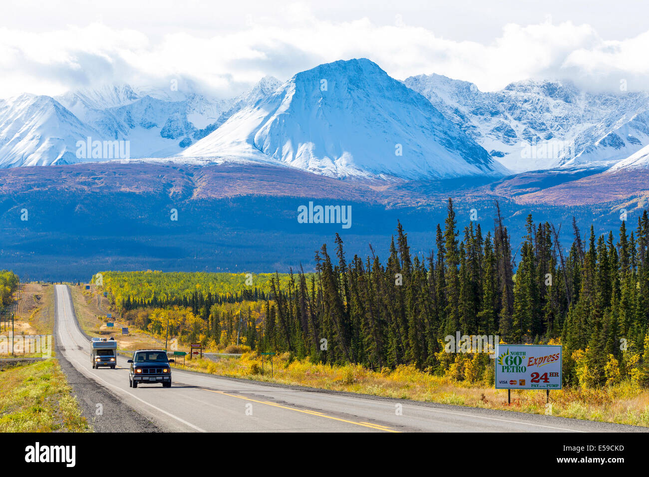 Haines Junction in Yukon, Canada - Stock Image