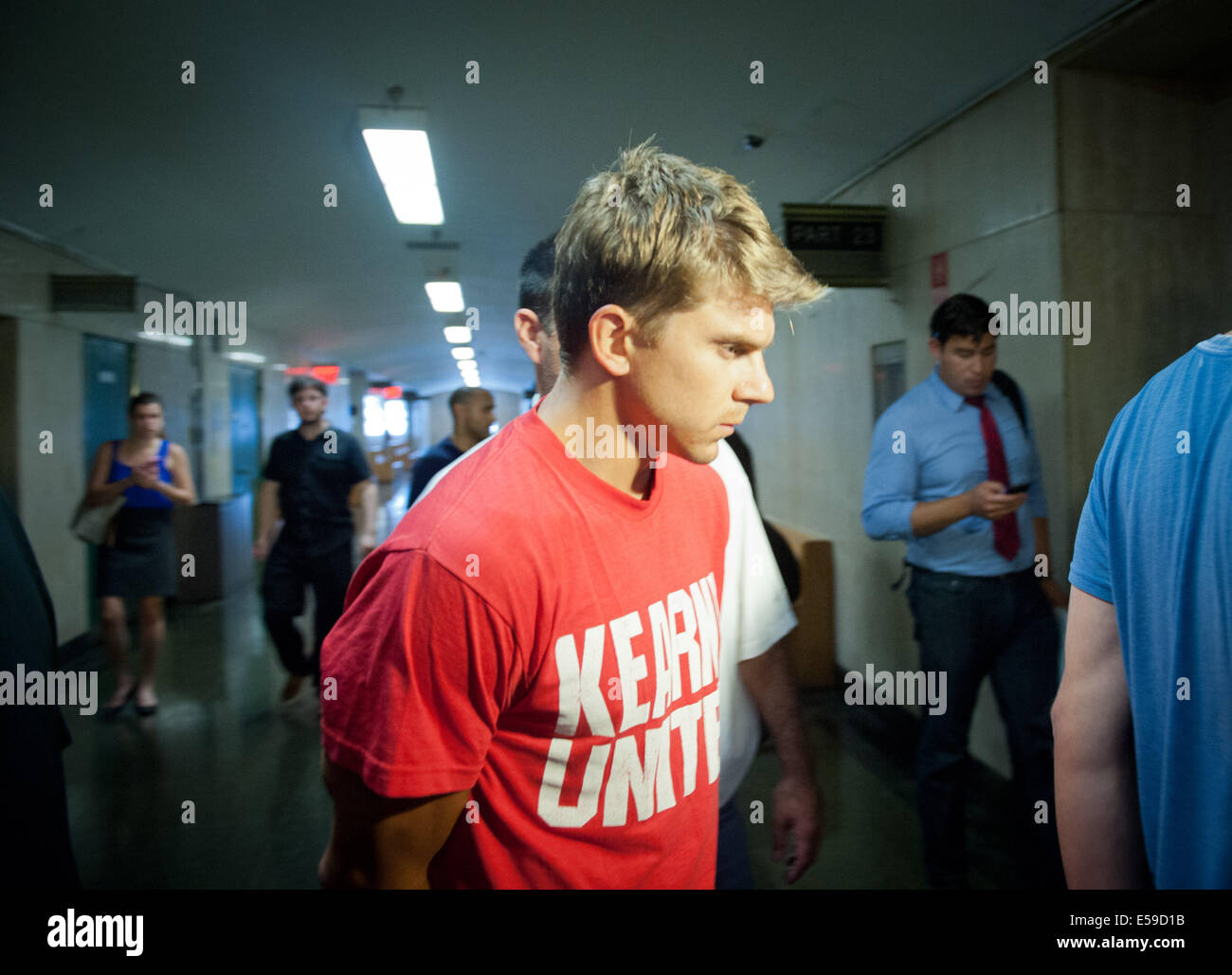 Manhattan, New York, USA. 23rd July, 2014. BRYAN CAPTUO arrives for arraignment on charges as Manhattan District - Stock Image