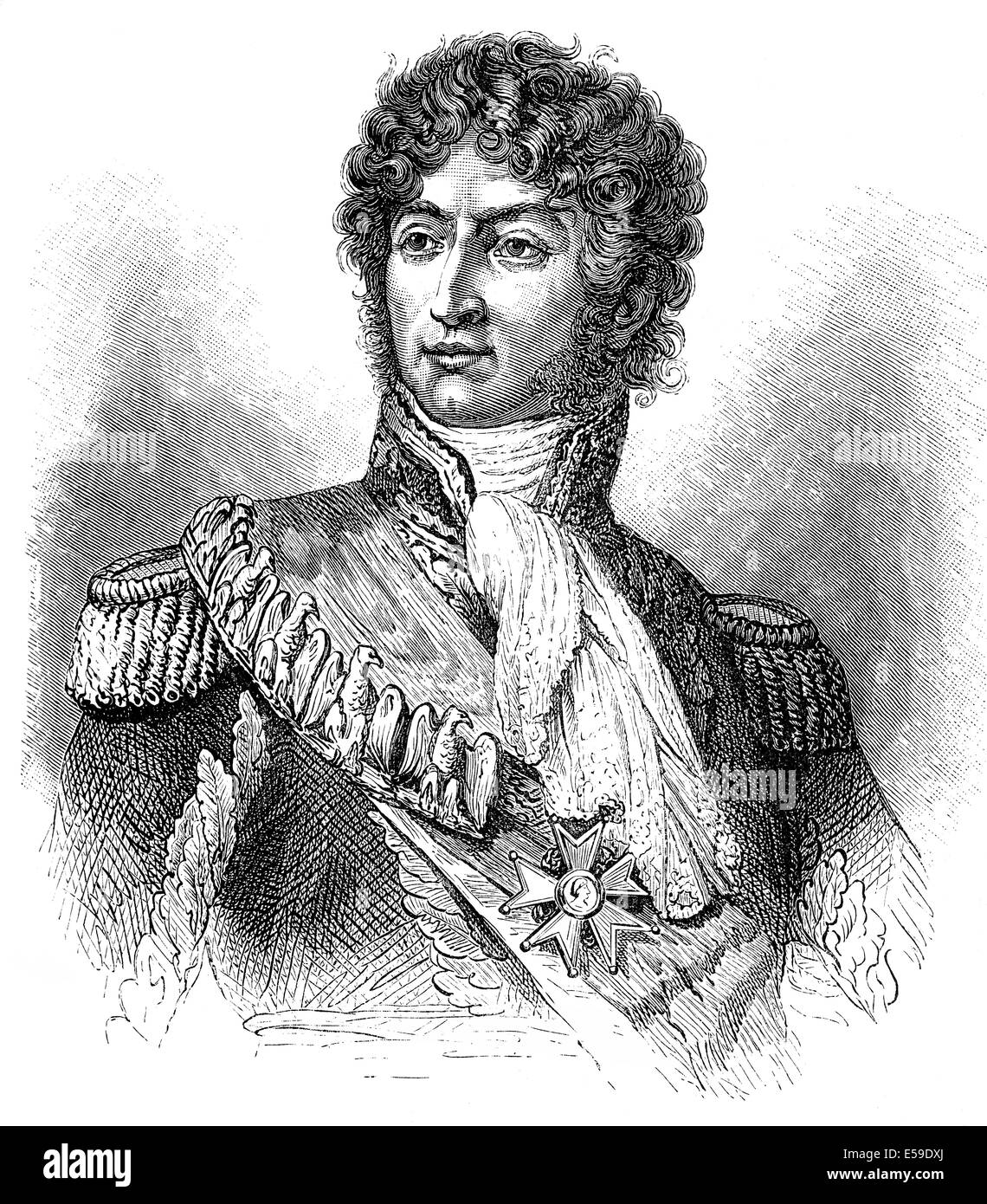 Joachim-Napoléon Murat, 1767 - 1815, Marshal of France, King of Naples, Stock Photo