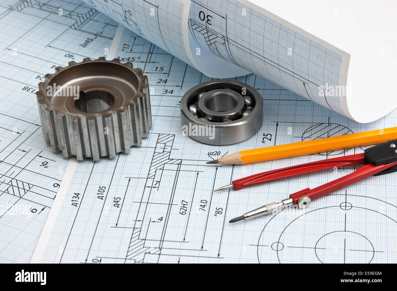 Technical Drawing Tools Stock Photos & Technical Drawing