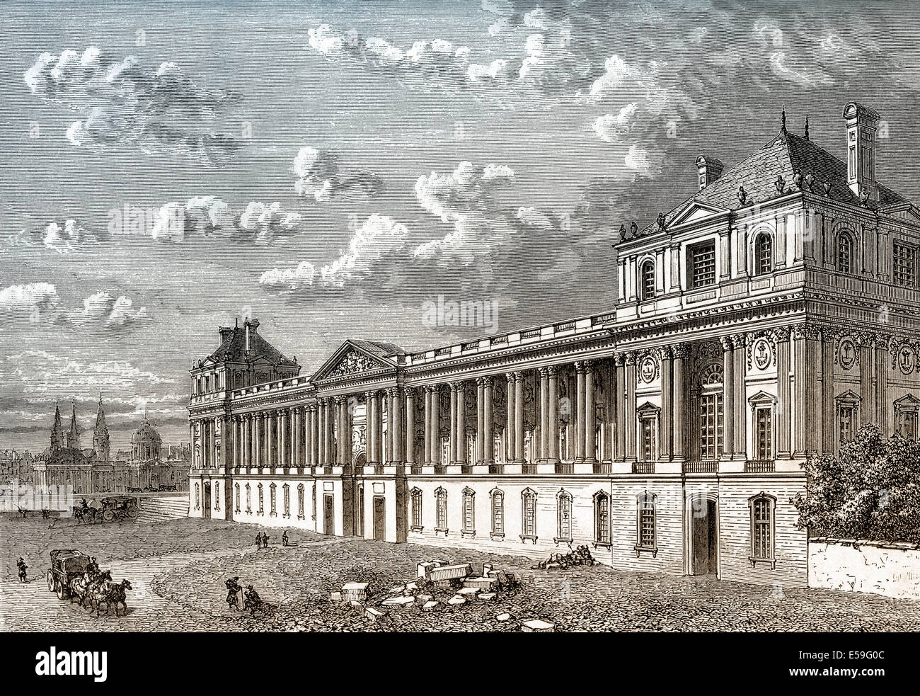 The Louvre Palace French Museum And Historic Monument Paris Stock Photo Alamy