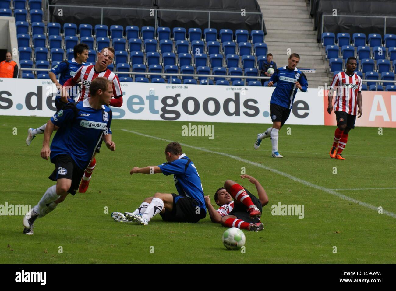 Arminia Bielefeld 1 Sunderland AFC 1 Schüco Arena (Bielefelder Alm)  Sunday 16th July 2011 - Stock Image